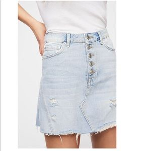 Free People A-Line Skirt